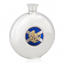 Saltire and Thistle Round Flask